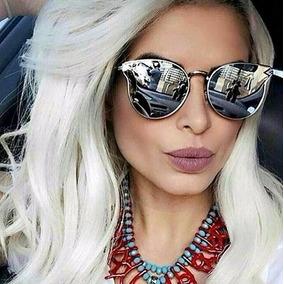6244de2bab41d Oculos Gatinha Espelhado no Mercado Livre Brasil