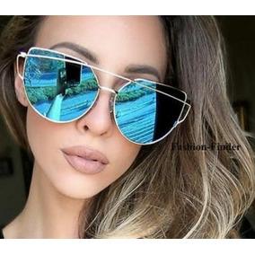 63e4fb3ff4e51 Óculos Estiloso Para Mulher Espelhado Gatinho Cat Eye Retro · R  39 73