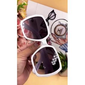 b14b967e77592 Óculos Ysl Branco Quadrado Original Completo Importados