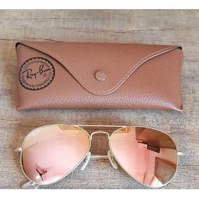 7ed99620aed85 Oculos Rayban Aviador Rose Espelhado De Sol - Óculos De Sol Ray-Ban ...