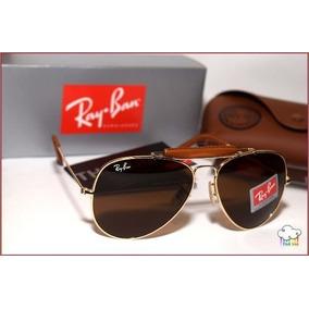 661cf1e4a023b Oculos Rayban Aviador Masculino Grande Couro - Óculos no Mercado ...