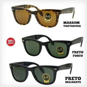 4ae4226633e20 Ray Ban Wayfarer Dobravel Preto Fosco - Óculos no Mercado Livre Brasil