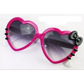 2258c550d03e9 Óculos Infantil Menina Escuro Coração Estiloso Moda Verão
