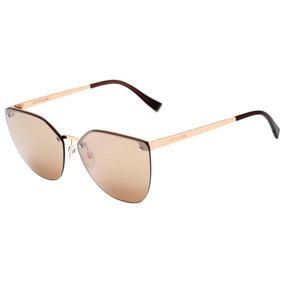 0b0ee20f74cde Atitude At 3214 - Óculos De Sol 04b Dourado Brilho  Prata Es
