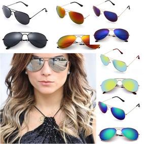 3048af8b314da Oculos Aviador Espelhado Colorido - Óculos no Mercado Livre Brasil