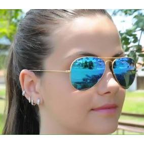 0e37eb73b776a Óculos De Sol Aviador Semi Espelhado 3025 Ray Ban - Óculos no ...