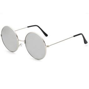 fd03ea821 Óculos Sol Redondo Prata Ozzy John Lennon Masculino Feminino