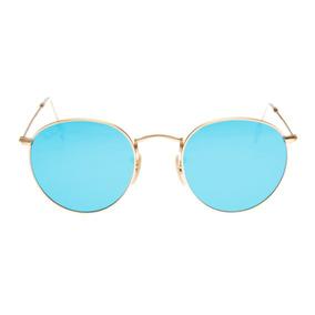 c6fbf62843350 Ray Ban Round Espelhado Azul Oculos De Sol - Óculos De Sol no ...