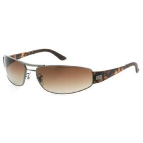 eab1f5928 Óculos De Sol Ray Ban 3395 004-71 Marrom Novo E Original