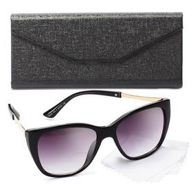 1cbf9f4a200a6 Oculos Sol Feminino Gatinho Lente Proteção Uv Estojo Grátis