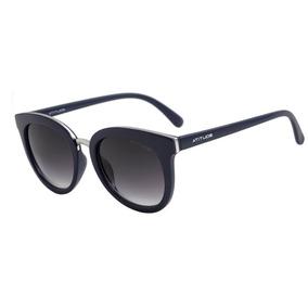7c3e26f6c89eb Oculos Sol Atitude At5302 T01 Azul Prata Lente Cinza Degradê