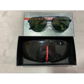c9a0331de1f34 Oculos Redondo Azul Masculino De Sol Prada - Óculos no Mercado Livre ...