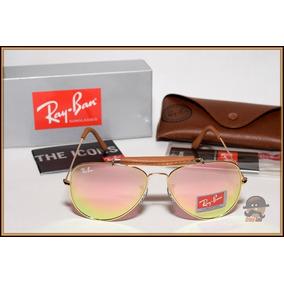 506650c6a4da0 Óculos Escuros Aviador Médio Rb3025 Prata Lentes Espelhadas. São Paulo ·  Aviador Couro Rb3422q Dourado Lentes Escuras Espelhadas Rosé