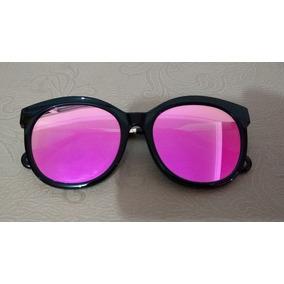 1ec80791f6c28 Óculos De Sol Feminino Rosa Lente Espelhada Marca Dra Biju