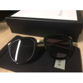 356f2402c6790 Óculos Gucci Preto Original Completo 1799 C01 Lentes Degradê