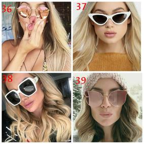 e324b9e9aa1bd Oculos De Sol Feminino Retro Gatinho Grande Outras Marcas - Óculos ...