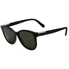 13f14f32250a6 Prada Pr 08us - Óculos De Sol 1ab 1l0 Preto Brilho  Verde
