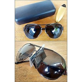 7ced06d409a66 Óculos De Sol Unissex Aviador 100% Lentes Polarizado Uva Uvb ...