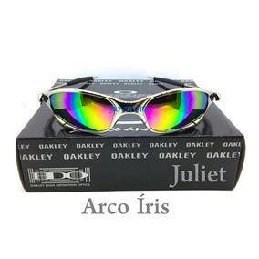 0336de947055c Oculos Oakley Juliet X Metal Lente Arco Iris Cromada A + Top
