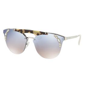 3ed82f008a087 Oculo Gatinho Espelhado De Sol Prada - Óculos De Sol no Mercado ...