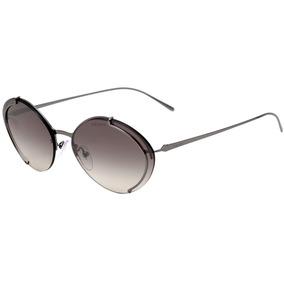 0cca246ec8016 Prada Pr 60us - Óculos De Sol 5av 5o0 Cinza Brilho  Cinza De