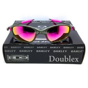 ed31a34187fa8 Oculos Oakley Double X X Metal Lentes E Borrachas Rosa Pink