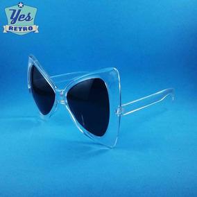 f8d1fb9db374b Óculos De Sol Pin Up Butterfly Borboleta Estilo Pinup Transp