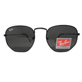 64a3beb2c005a Óculos De Sol Hexagonal Feminino Masculino Preto Promoção