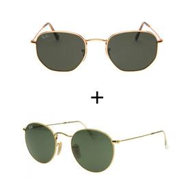 e18fc1d085f66 Oculos Rayban Roud Hexagonal - Óculos no Mercado Livre Brasil