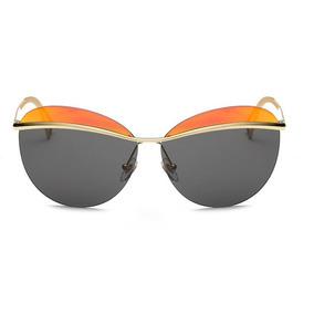 5a8488753ffce Óculos Sol Oval Feminino Espelhado Redondo Gatinho 2 Cores. 5 cores. R  69  99