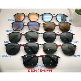 a77293864 Oculos De Sol Masculino Scuderia Ray Ban Ferrari Rb2448 Roun