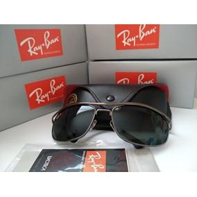 967e289251876 Óculos De Sol Ray Ban 8012 Demolidor Prata Lente Verde - Óculos no ...