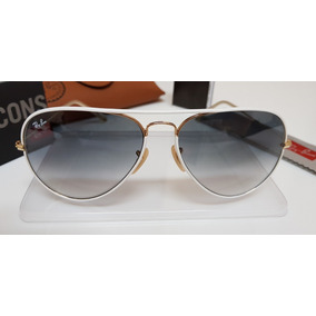 c49a8240adc76 Óculos Sol Ray-ban Aviator Full Color Rb3026 148 32 Branco