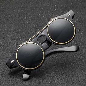c793fd05452f9 Óculos De Sol Redondo Lentes Duplas Flip-up Armação De Grau