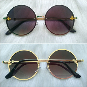 b02ad5a982693 Oculos Redondo Lente Transparente Colorida De Sol - Óculos no ...