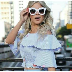 79ef3b178c451 Oculos De Sol Feminino Quadrado Barato - Óculos no Mercado Livre Brasil