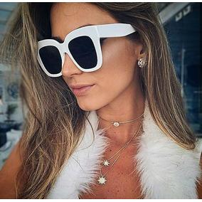 3f0e35e0de130 Óculos Blogueira Social Grande Trabalho Quadrado Branco Moda