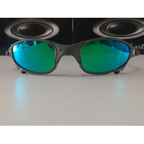 02134cdefccb4 Lupa Oakley Juliet Lentes Green Brilho Reto Borrachas Branca