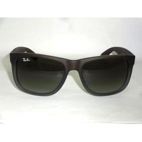 32ced6036d29c Óculos Ray-ban Justin Rb4165 Marrom Polarizado Original