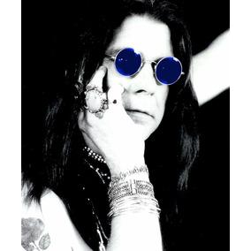 97d4d99bbe6ae Óculos De Sol Azul Ozzy Osbourne Atitude Rock Metal Anos 80