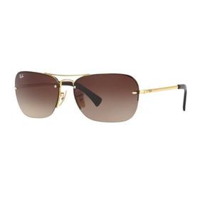 ffe087d051ed4 13 Dourado Novo Original Ray Ban Rb3387 001 - Óculos De Sol Com ...