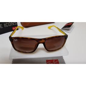 fd88629e192e9 Ray Ban Quadrado Marrom De Sol - Óculos no Mercado Livre Brasil