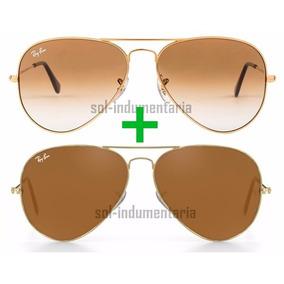 5d26b9d7790bd 4f Dourado Tamanho 58 Ray Ban Aviador Rb3025 001 - Óculos no Mercado ...