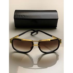 ee87ab830 Óculos De Sol Dita Mach One Titanium Preto E Dourado Origina