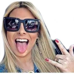 c1272fb8a2f8c Oculos Sol Mascara Quadrado Dourado De - Óculos no Mercado Livre Brasil