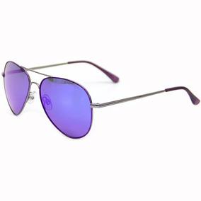 600e410f5c250 Oculos Aviador Espelhado Violeta De Sol Polaroid - Óculos no Mercado ...
