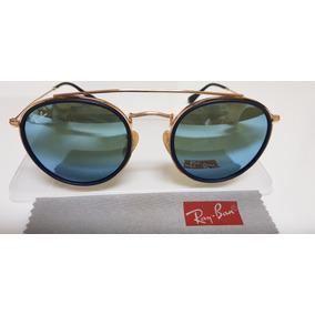 0f5370771 Oculos De Sol Rose Roind Espelhado Azul Ray Ban Round - Óculos De ...