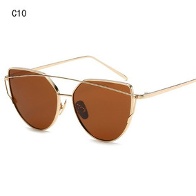 2eef2587b427d Óculos De Sol Modelo Gato Gatinho Cat Eye Marrom Degradê - Óculos no ...