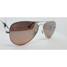 5a1d2b46c7b66 São Paulo · Óculos De Sol Ray-ban Aviator Rb3025 Rosê Lentes Espelhadas