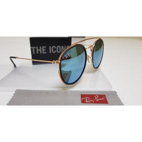 b153a39e9 Oculos De Sol Rose Roind Espelhado Azul Ray Ban Round - Óculos no ...